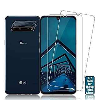 LG V60 ThinQ Screen Protector + Camera Lens Protectors By BIGFACE, [2 + 2 Pack] HD Clarity Premium Tempered Glass, Anti-Bubble, 9H Hardness, 3D Touch Accuracy Anti-Scratch Film
