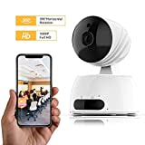 Famisafe HD IP Camera, 1080P Wireless Home Security Indoor Surveillance PTZ 2.4Ghz WiFi Camera with Motion Detection, Two-Way Audio, Night Vision, Micro SD Card Slot for Home/Office/Baby/Pet/Nanny
