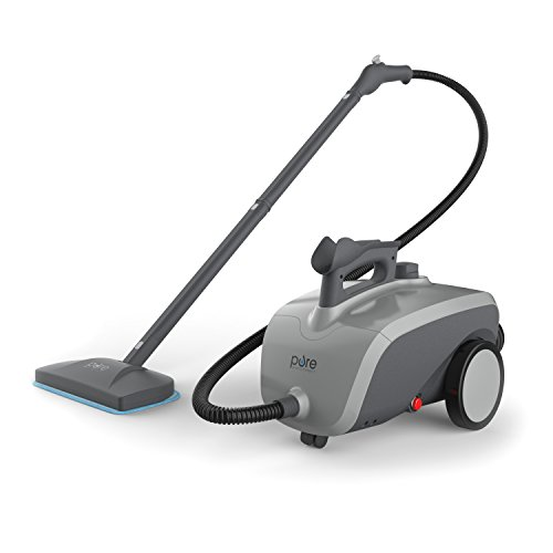 PureClean XL Rolling Steam Cleaner – 1500-Watt Multi-Purpose Household Steam Cleaning System Includes 18 Accessories Ideal for Deep Cleaning Floors, Windows, BBQ Grills, Ovens, Vehicles and More by Pure Enrichment
