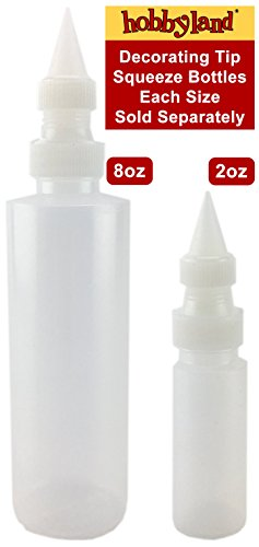 Hobbyland Squeeze Bottles with Fine Point Spout and Caps (2 oz, 3 Pack)