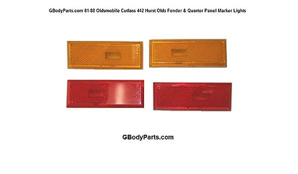 1981-88 Cutlass 442 Hurst Olds New Fender /& Quarter Panel Side Marker Lights
