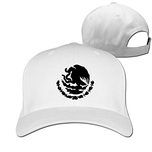 Newest Mexican Emblem Cotton Baseball Cap Peaked Hat Adjustable For Unisex White By Henyz (Hat Adjustable Charlie Womens)