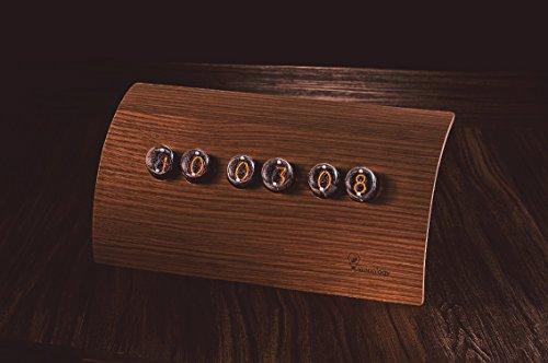 Nixie Tube Clock Jova IN4 - Walnut [Makenology] Loft Living Style