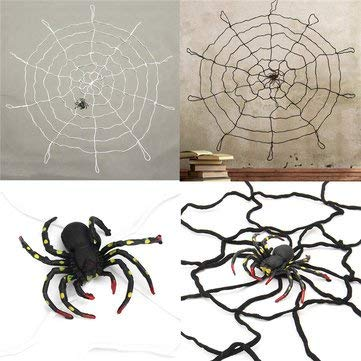 Bumatech Decoration - Large Spider Web Decorations Black Giant Miniature Super Plush - 1PCs