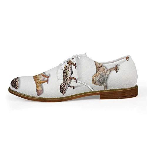 TecBillion Reptiles Comfortable Leather Shoes for Men,US Size 8
