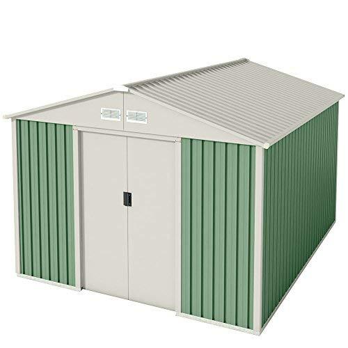 Wolder Brico Gälliv G01ME0011 - Caseta metálica de jardín para el almacenaje exterior con espacio de 7,86 m2: Amazon.es: Bricolaje y herramientas