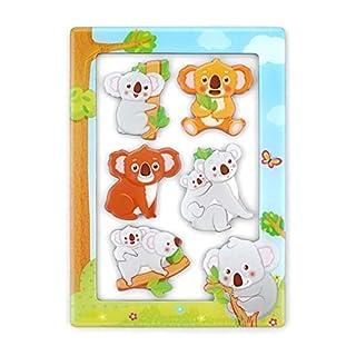 "Morcart Koala Fridge Magnets and 4""x 6"" Magnetic Photo Frame Set Koala Refrigerator Magnets, Best Gift Choice(Koala Magnets)"