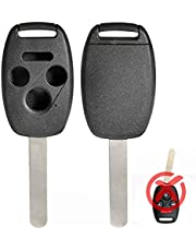 RemoteOverstock Compatible with Honda Remote Key Fob Keyless Entry Case INDESTRUCTIBLE SHELL for Civic Accord CR-V CR-Z Insight Ridgeline Odyssey Fit Crosstour Pilot and others (Comparable to Stauber) - 4 Buttons