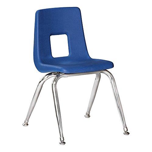 Sprogs SC1009RBB 100 Series Preschool Chair with Chrome Legs, 9 1/2