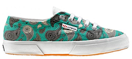 Superga Customized zapatos personalizados Turquoise Paisley (Producto Artesano)