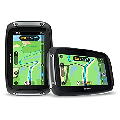 TomTom Rider 550 Motorcycle GPS Navigation Device, 4.3 Inch, with Motorcycle Specific Winding
