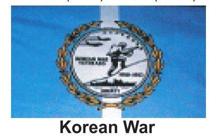 HP 2ft X 3ft Military Flag - Korean War