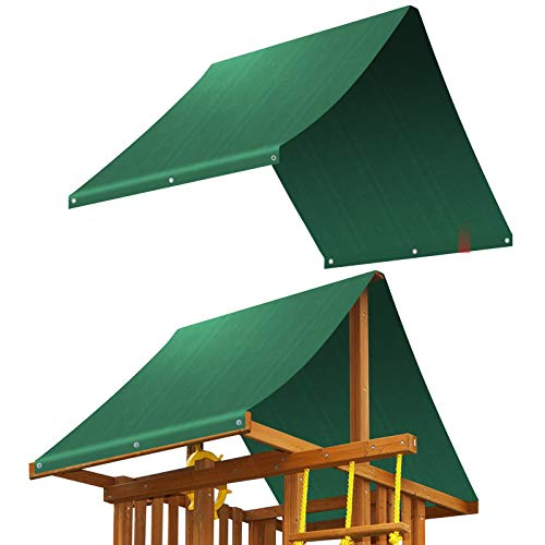Tarp Replacement (BenefitUSA Replacement Canopy Cover for Backyard Wood Playset Swing Set (43