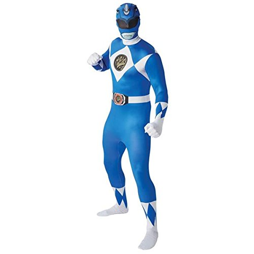 Rubie's 810948XL Official Blue Ranger 2nd Skin Costume, Adult, X-Large ()