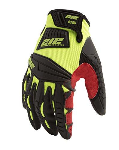 (212 Performance Gloves IMPC5-88-009 Super Hi-Vis Cut Resistant Gloves (EN Level 5, ANSI A4), Medium)