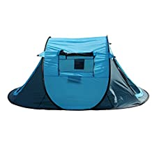 Ezyoutdoor 2-3 Person Waterproof Automatic Pop Up Portable Instant Setup Easy Fold Back Shelter Camping Hiking Tent With Carry Bag,Random Color
