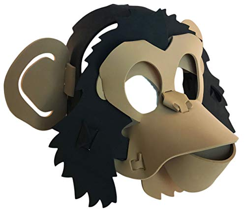 Monkey Mask - Light, Comfortable, and Adjustable to Any Size - Brown & Black