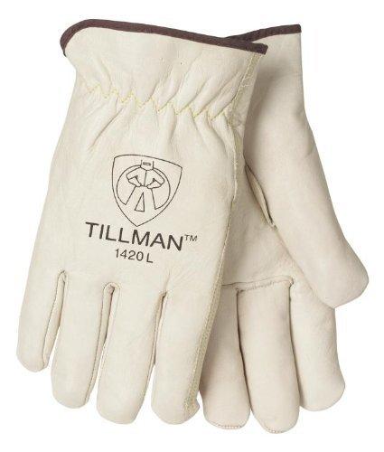 Tillman 1420L Top Grain Cowhide Drivers Gloves - L - Grain Cowhide Drivers Gloves