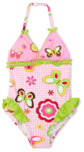 "Hula Star Little Girls'  ""Picnic"" Garden One Piece Swim Suit,Pink,3T"