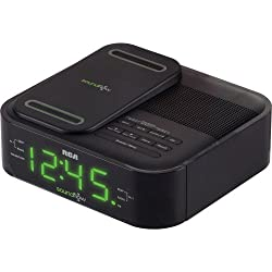 RCA Clock Radio with Soundflow Wireless Audio and USB Charging