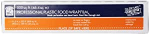 Bakers and Chefs Professional Plastic Food Wrap Film, 500 Square Feet