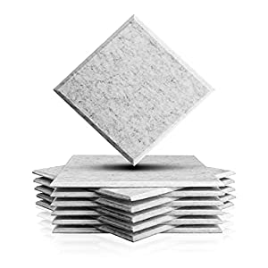Flashandfocus.com 415UM8Ayb1S._SS300_ 12 Pack 12 X 12 X 0.4 Inches Acoustic Absorption Panel, Beveled Edge Tiles Soundproofing Insulation, Used in Home…