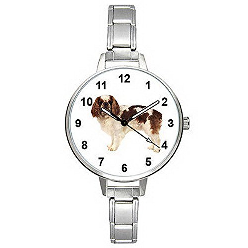 Spaniel Italian Charm Watch - BMTC762 Blenheim Cavalier King Charles Spaniel Italian Charm Mens Ladies Watch
