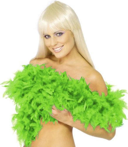 (Forum Novelties Women's 55-Gram Turkey Feather Boa, Lime Green, One)