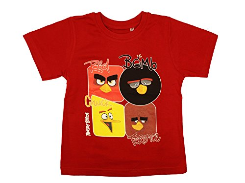 Birds 8 Sleeve Years T Short Official 3 Age Angry shirt Boys dqzzvY