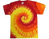 yellow tye dye - Buy Cool Shirts Tie Dye Shirt Red Yellow Orange Blaze Swirl T-Shirt Medium