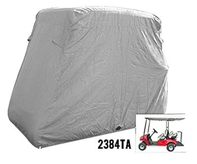 4 Passenger Golf Golf Cart Cover Fits Ez Go, Club Car, Yamaha, Eagle, Taupe
