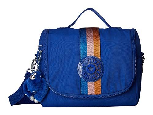 Kipling Kichirou Insulated Lunch Bag, Removable, Adjustable Crossbody Strap, Zip Closure, Blue Tropics