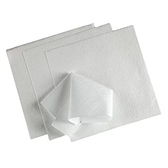 Kimtech Delicate Surface Wiping Cloth, Reusable, Large Size, 23.7 x 38.1 cm, Pack of 25, White, 60027 by Kimberly-Clark