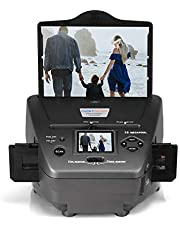 "All-in-One High Resolution 16MP Film Scanner, with 2.4"" LCD Screen Converts 35mm/135slides&Negatives Film Scanner Photo, Name Card, Slides and Negatives for Saving Films to Digital Files"