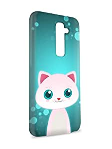 LJF phone case Case Fun Case Fun White Cat by DevilleART Snap-on Hard Back Case Cover for LG G2