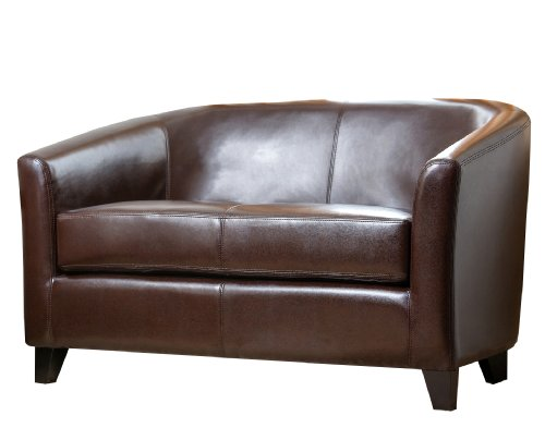 Abbyson Montecito Leather (Designer Style Leather Loveseat)