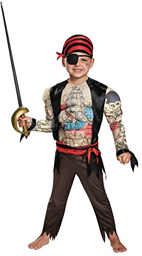 Disguise Muscle Chest Pirate Costume for Toddler