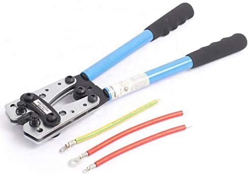 8 Solarson Wire Crimper Battery Cable Crimping Tool for 0 10 AWG Cable Lug Crimper 2 4 6