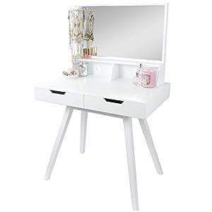 Hartleys White Modern Dressing Table Mirror