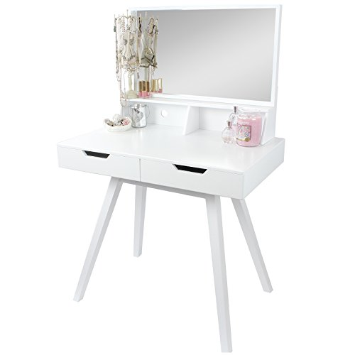 Hartleys white modern dressing table mirror search for Cheap dressing table with mirror