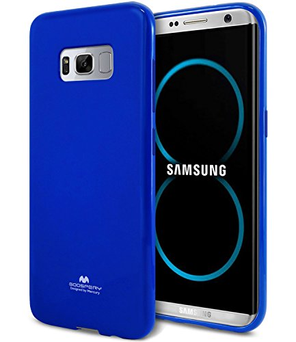 (Galaxy S8 Case, [Thin Slim] GOOSPERY [Flexible] Pearl Jelly Rubber TPU Case [Lightweight] Bumper Cover [Impact Resistant] for Samsung Galaxy S8 (Navy) S8-JEL-NVY)