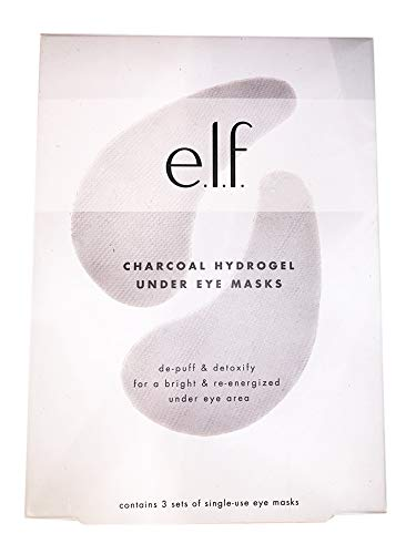 Elf Charcoal Hydrogel Under Eye Masks! 3 Sets of Single-Use Eye Masks! De-puff & Detoxifying! For a bright and Re-energized Under Eye Area! ()