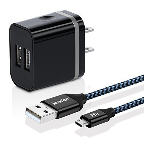 Rapid-Dual-USB-Wall-Charger-Adapter-With-iSeekerKit-6ft-Quick-Charge-Micro-USB-Cable-For-Samsung-S7S6Edge-LG-G4-Moto-DroidX-Sony-HTC-Android-Tablets