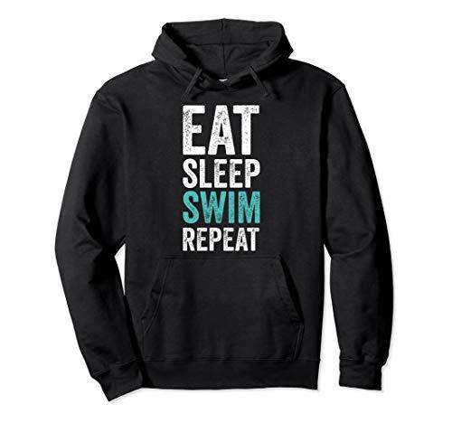 Eat Sleep Swim Repeat Hoodie Funny Swimming Hoodies