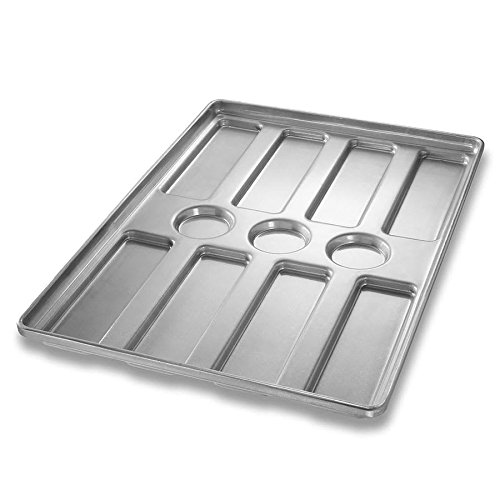 Chicago Metallic 41053 Hoagie Roll Pan, Makes (8) 10 inch x 3 inch Rolls, AMERICOAT Glazed 22-ga. Aluminized Steel