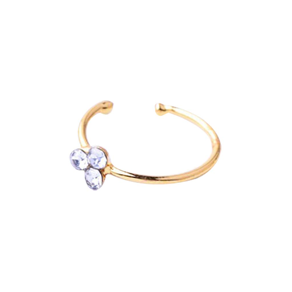 Silver Diadia ❤️Alloy Nose Ring Stud Ring Hoop Body Piercing for Women Girl Fashion Decoration Ear Studs for Women