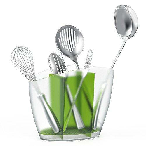 Nuovoware Kitchen Utensil Holder, Flatware Caddy Plastic Ute