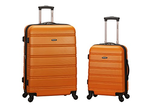 [Rockland Luggage 20 Inch 28 Inch 2 Piece Expandable Spinner Set Plus, Orange, One Size] (20