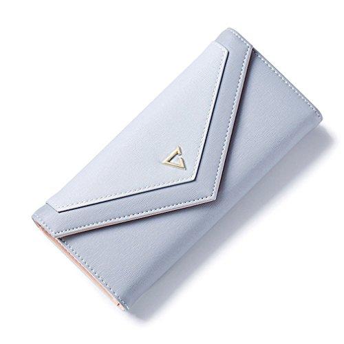 Porte femmes Envelope d'embrayage sacs PU de pour les monnaie Téléphone pour Portefeuille mode Cuir Grey d'argent Hasp géométrique Haoling Portefeuille les ZAqpcUWwYg