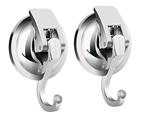 Heavy Duty Vacuum Suction Cup Hooks (2Pack) Specialized for Kitchen&Bathroom&Restroom Organization, by iRomic Small Suction Hooks